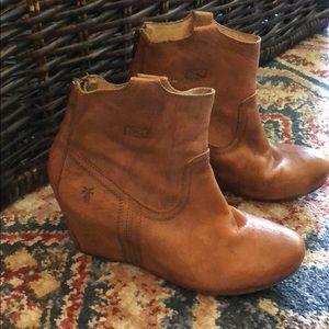Frye wedge booties